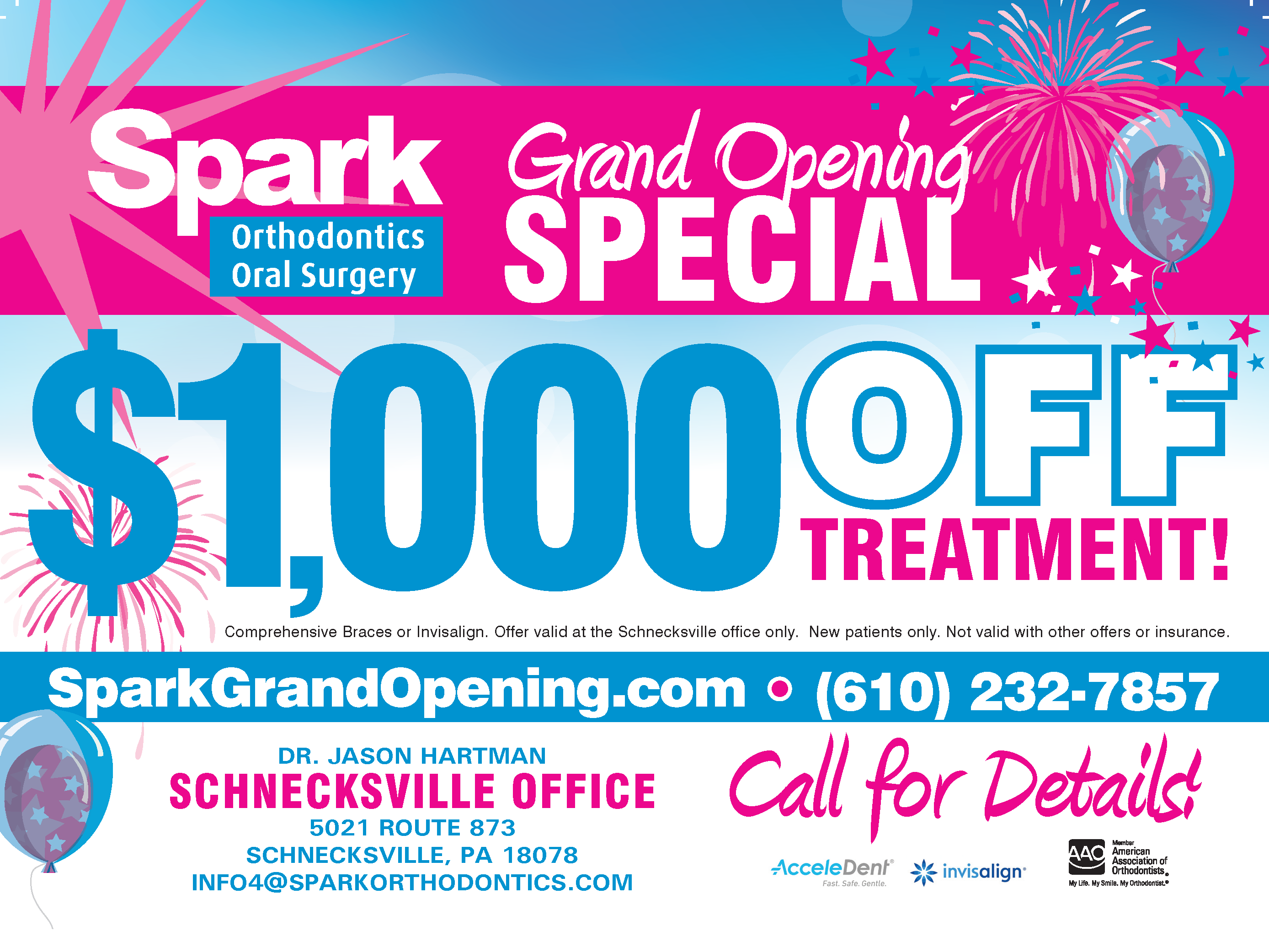 spark orthodontics grand opening