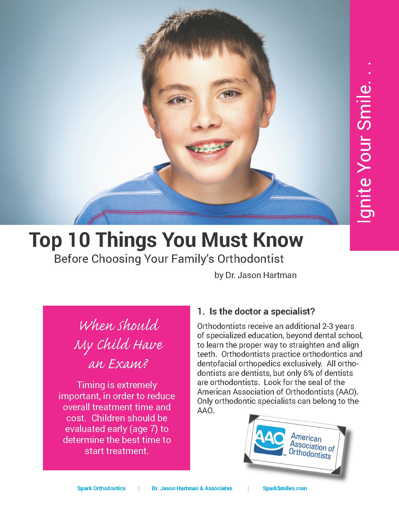 spark orthodontics top 10
